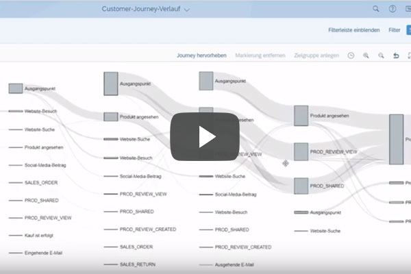 Insight SAP Marketing Cloud Customer-Journey-Analyse