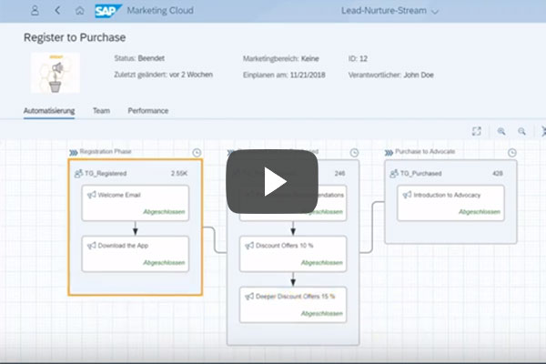 Insight SAP Marketing Cloud Lead Nurturing